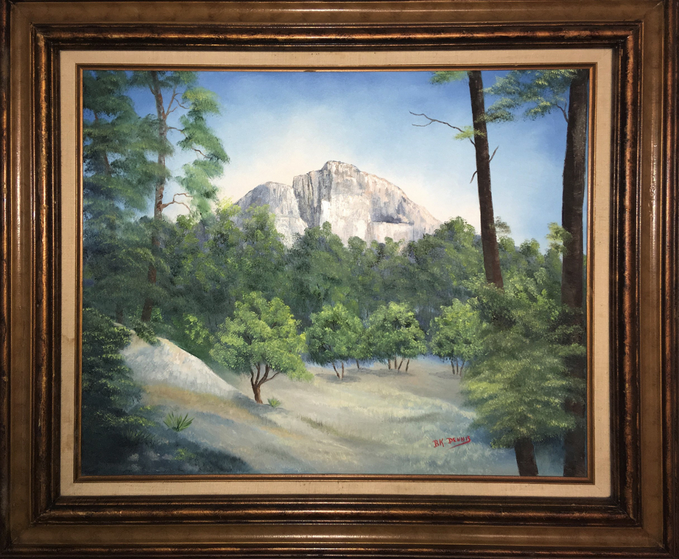 Emory Peak 20x24 Oil on Canvas Inspired by photo taken in Big Bend National Park by author Ben H. English of Alpine, TX.