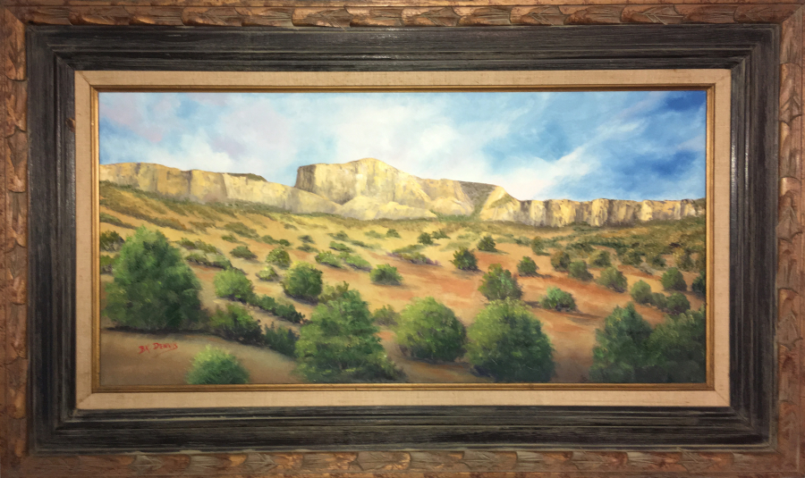 """Big Bend Wonder"" 15""x30"" Oil on Canvas Inspired by photo taken in Big Bend National Park by author Ben H. English of Alpine, TX."
