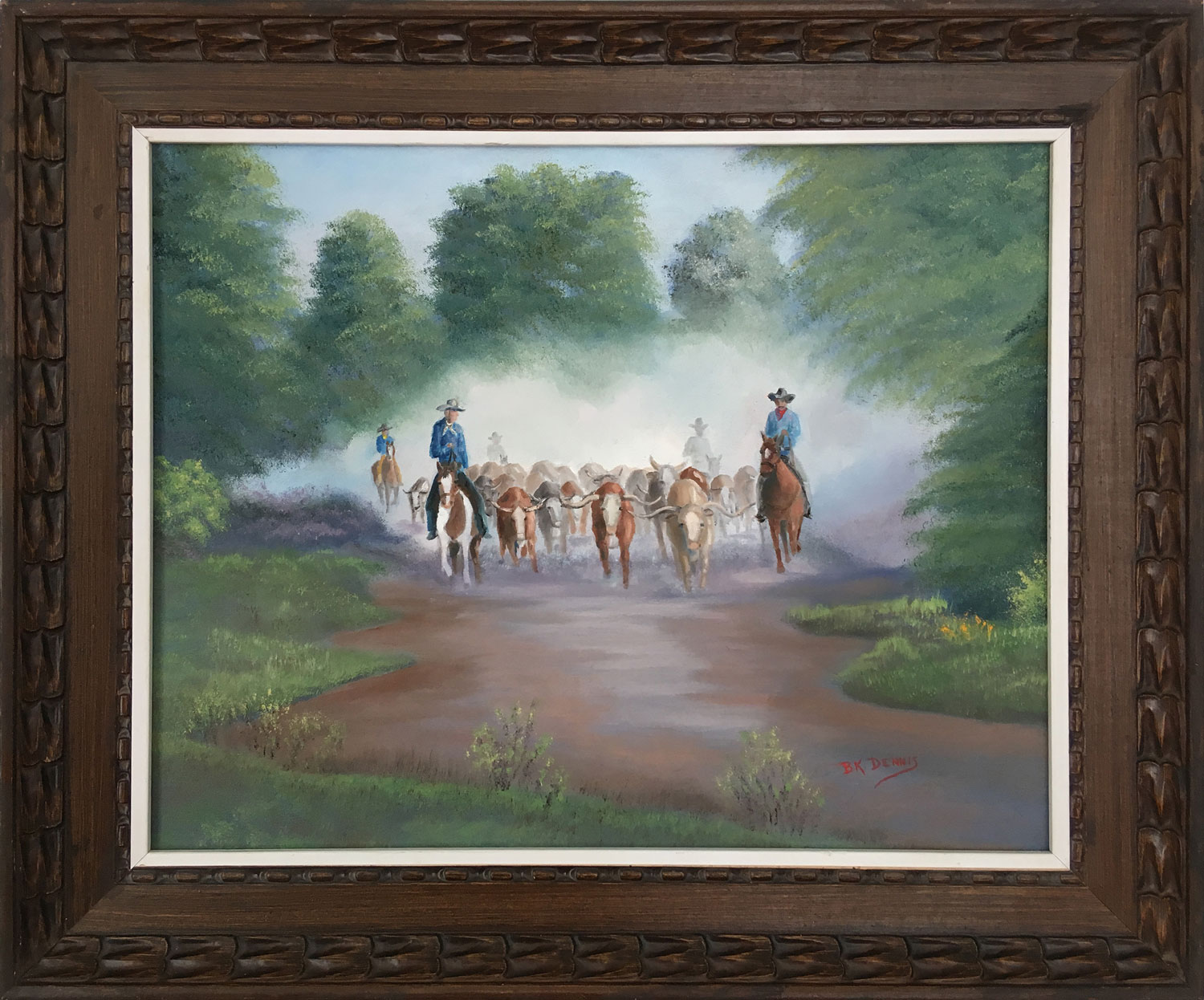 Bringing in the Herd by Artist BK Dennis